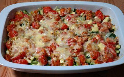 Koolhydraatarme lasagne met courgette